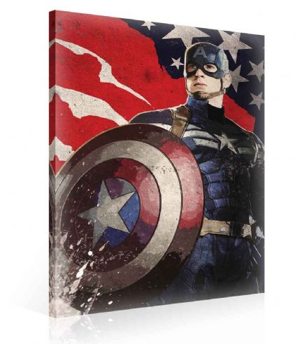 Marvel Captain America  Canvas Print 60x40cm